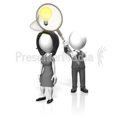 Business Catch Idea Presentation clipart