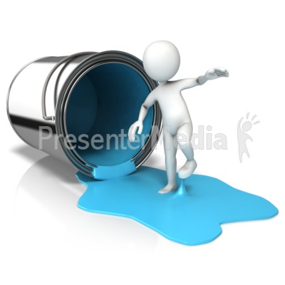 Sticky Paint On Feet Presentation clipart