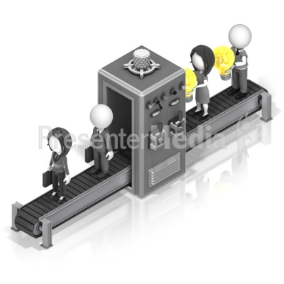 Idea To Business Conveyor Presentation clipart