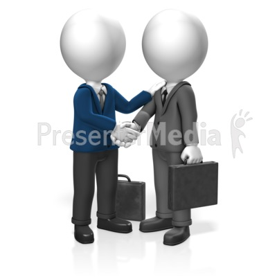 Businessmen Greet Presentation clipart
