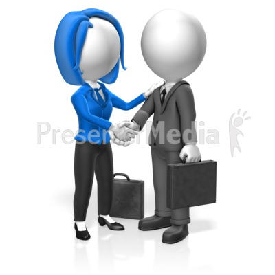 Business People Greet Presentation clipart