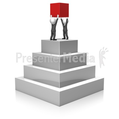 Businessmen Build Pyramid Presentation clipart