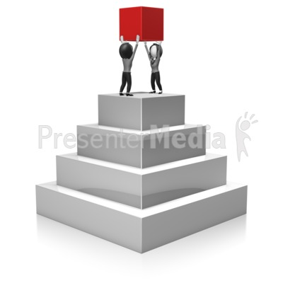 Business Women Build Pyramid Presentation clipart