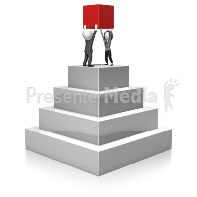 Business People Build Pyramid Presentation clipart