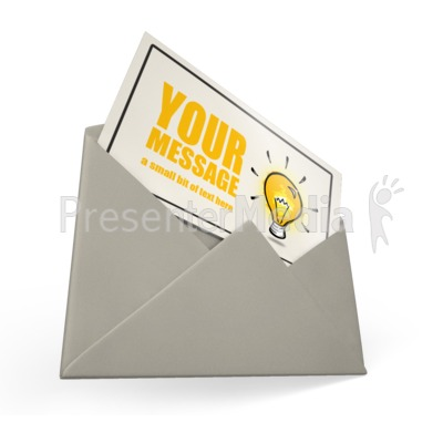 Card Envelope Custom Presentation clipart
