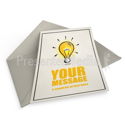 Card On Envelope Presentation clipart