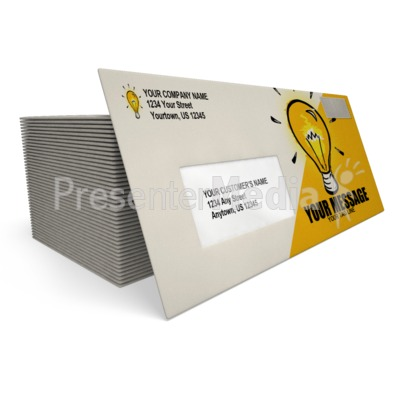 Business Envelope Presentation clipart