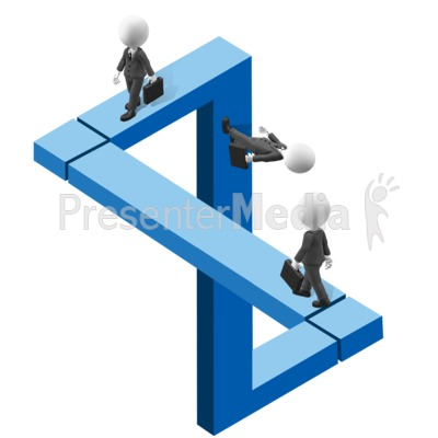 Figure Illusion Path Men Presentation clipart