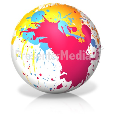 Paint Splatter Ball Presentation clipart