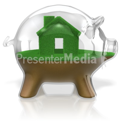 Piggy Bank Glass Real Estate Presentation clipart