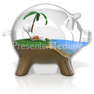 Piggy Bank Vacation Presentation clipart