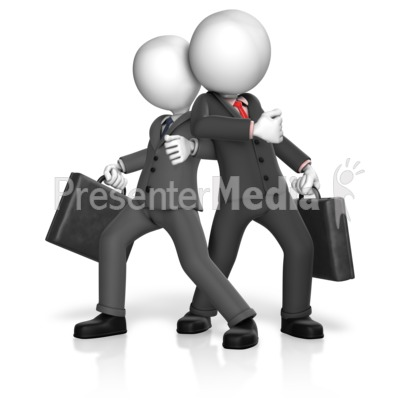 Dominance Businessmen Stance Presentation clipart