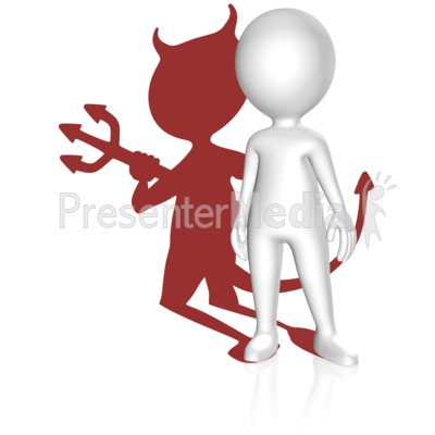 Shadow Devil Figure Presentation clipart