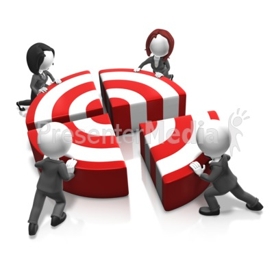 Push The Bullseye Presentation clipart