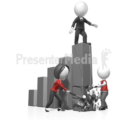 Figures Break Bar Graph Presentation clipart