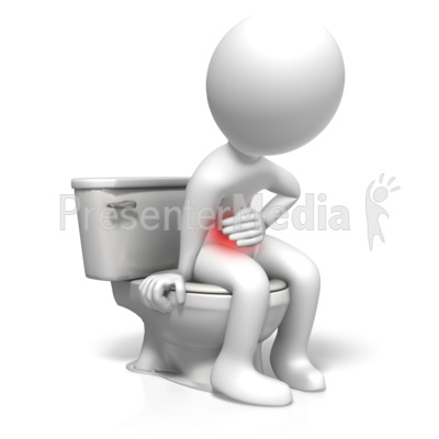 Toilet Stomach Problems Presentation clipart