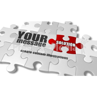 Custom Puzzle Complete Presentation clipart