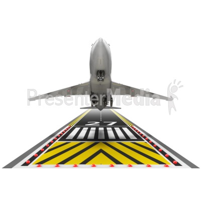 Airplane Taking Off Presentation clipart