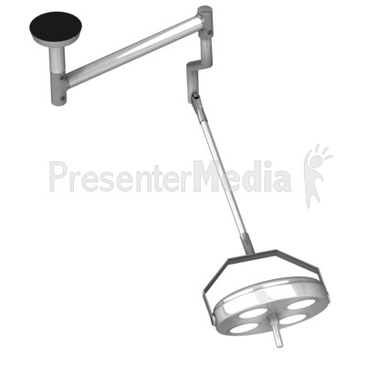 Medical Room Lighting Back Presentation clipart