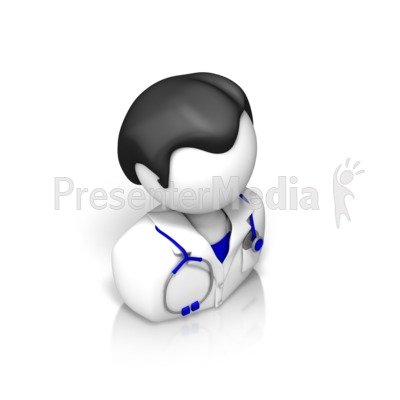 Male Doctor Isometric Presentation clipart