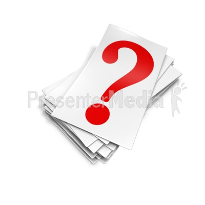 Question Mark Card Pile Presentation clipart