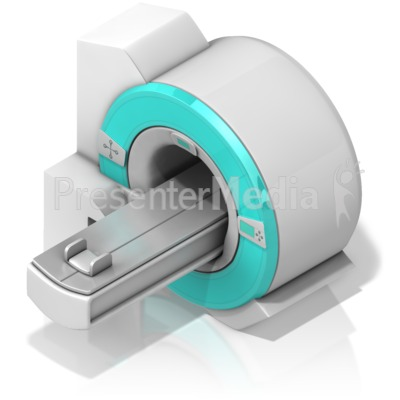 MRI machine at an Isometric Angle Presentation clipart