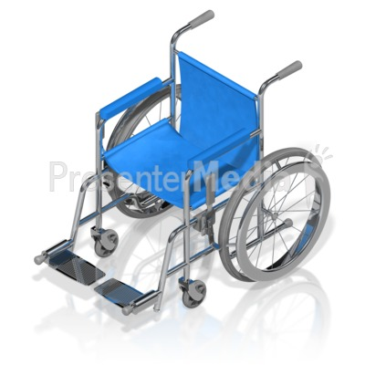 Wheelchair Isometric Presentation clipart