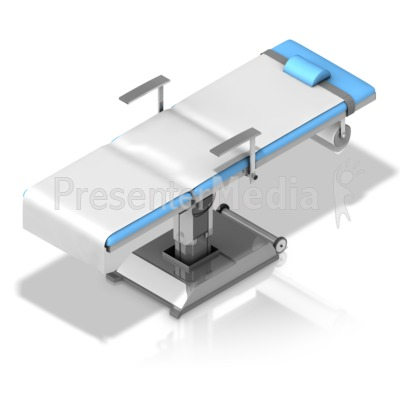 Operating Table Isometric Angle Presentation clipart