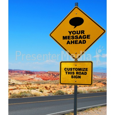 Desert Road Sign Presentation clipart