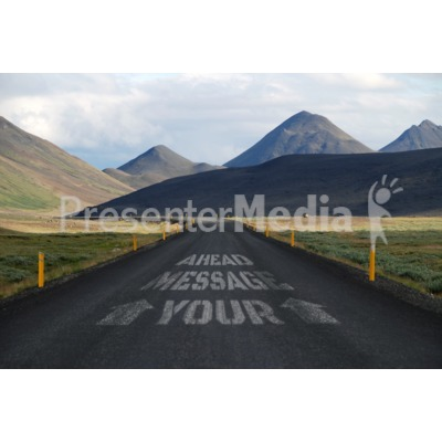 Road Message Presentation clipart