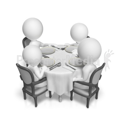 Dinner Table Family Presentation clipart