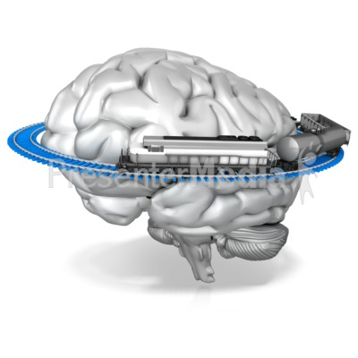 One Track Mind Or Train Of Thought Presentation clipart