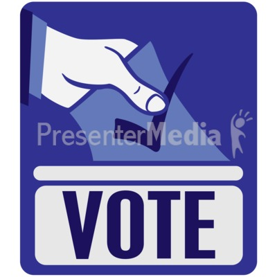 Vote Ballot Box Insert Presentation clipart