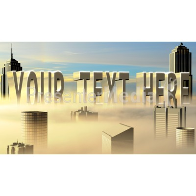 City In The Clouds Custom Text Presentation clipart