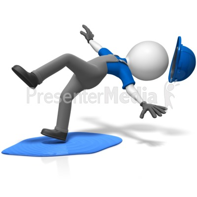 Worker Slip On Spilled Liquid Presentation clipart