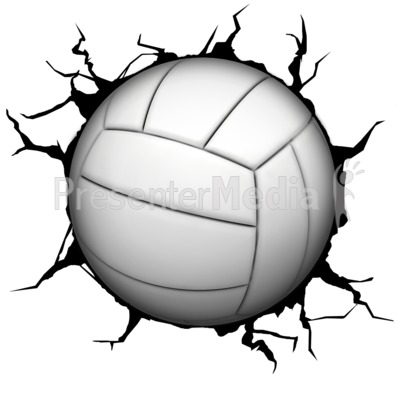 Crack Wall Volleyball Presentation clipart