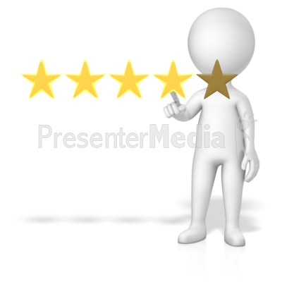 Figure 4 Of 5 Stars Presentation clipart