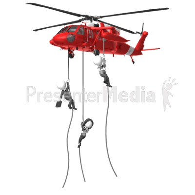 Business Rescue Helicopter Presentation clipart