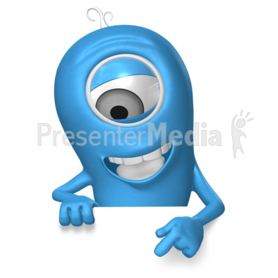 Minion Presenting Below Presentation clipart