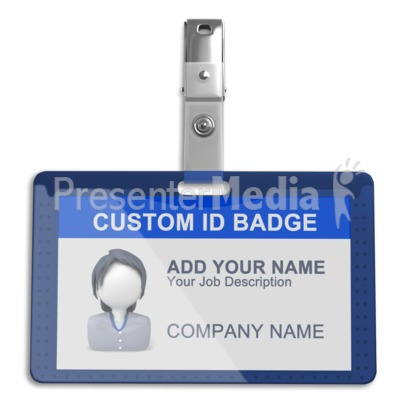 Single Id Badge Presentation clipart