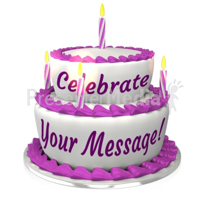 Birthday Cake Custom Presentation clipart