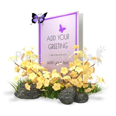 Summer Greeting Card Presentation clipart