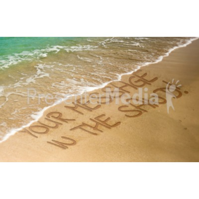 Message In The Sand Presentation clipart