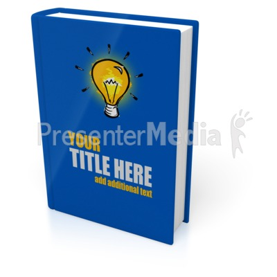 Upright Book Cover Presentation clipart
