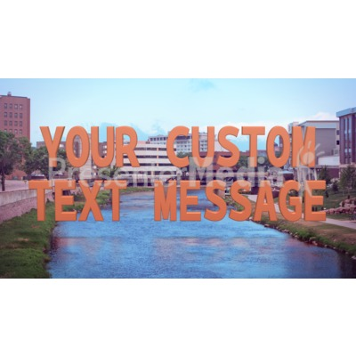 Urban River Custom Presentation clipart