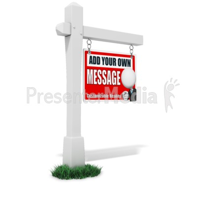 For Sale Sign Custom Presentation clipart
