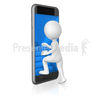 Stairs Lead Into Phone Presentation clipart