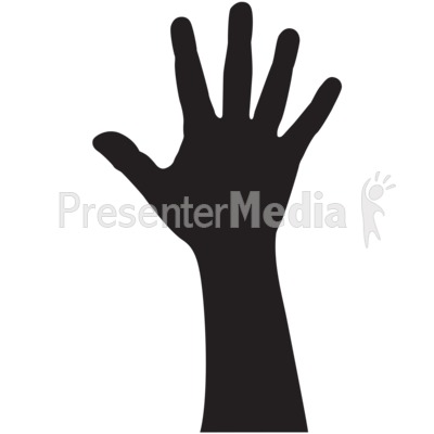 Hand Silhouette Adult Presentation clipart