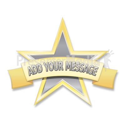 Single Star Label Presentation clipart