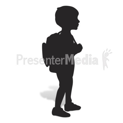 School Boy Silhouette Presentation clipart